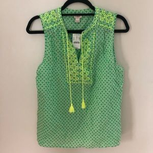 NWT Jcrew Factory Embroidered Dress Sz 10